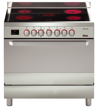 Gibson Ceramic Top Cooker 90 X 60 Italian made with Code red design GCB296CTLEDN