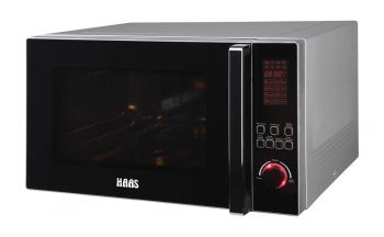 HAAS Microwave oven, 42Liters, digital control with grill, silver cover and gray cavity